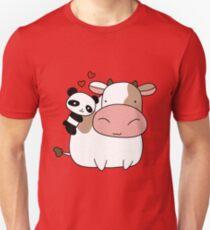 Panda Loves Cow  Unisex T-Shirt
