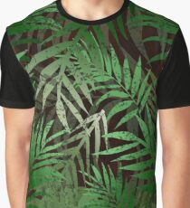 TROPICAL GREEN LEAVES at night Graphic T-Shirt