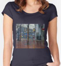 Market Street Corner Lights Women's Fitted Scoop T-Shirt