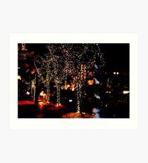 aspen night lights Art Print