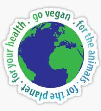 Go Vegan Sticker