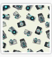 Vintage camera pattern Sticker