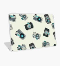 Vintage camera pattern Laptop Skin