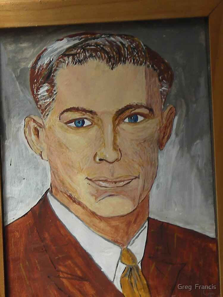 painting of Dad by Greg  Francis