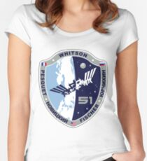 Expedition 51 Actual Flight Crew Patch Women's Fitted Scoop T-Shirt