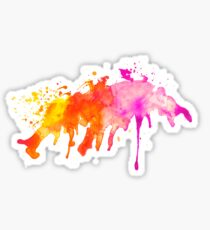 Abstract expressive watercolor stain Sticker