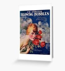 I'm forever blowing Bubbles, Vintage, Poster, Bubbles, Bubble, Football, Soccer, Greeting Card