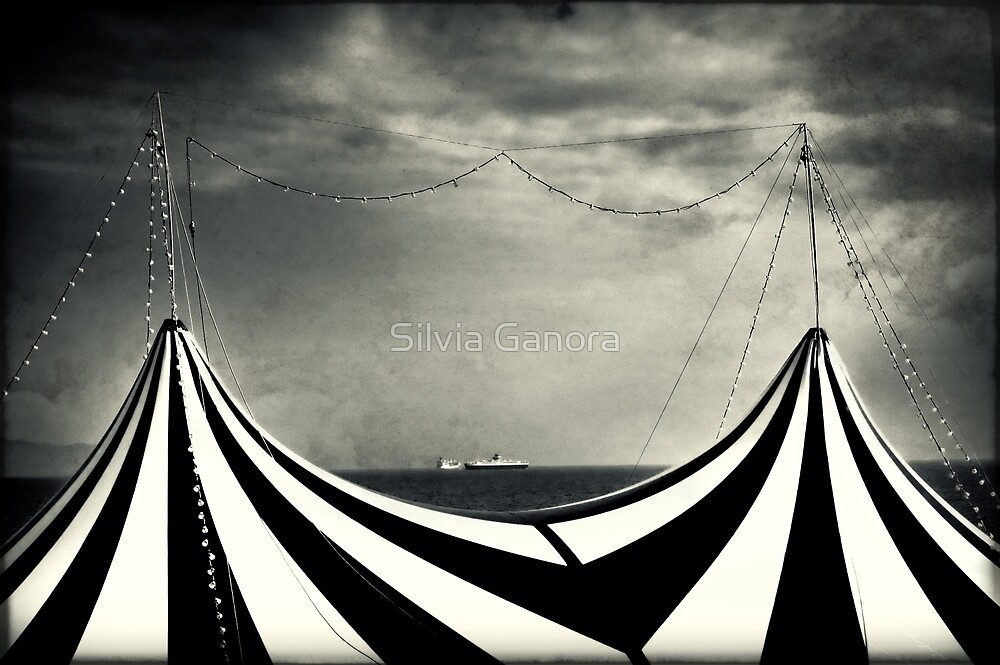 Circus with distant ships by Silvia Ganora