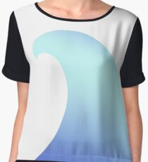 Ocean, Wave, Surf, Surfing, Tsunami, Water Chiffon Top