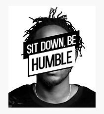 Kendrick Lamar- Sit Down, Be Humble Photographic Print