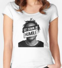Kendrick Lamar- Sit Down, Be Humble Women's Fitted Scoop T-Shirt