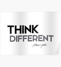 think different - steve jobs Poster