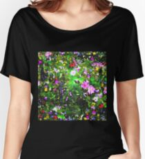 Stained Glass Wildflowers 1 by IdeaJones Women's Relaxed Fit T-Shirt