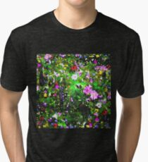 Stained Glass Wildflowers 1 by IdeaJones Tri-blend T-Shirt