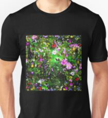 Stained Glass Wildflowers 1 by IdeaJones Unisex T-Shirt