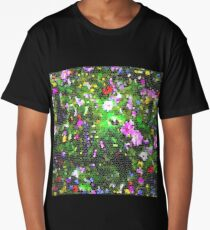 Stained Glass Wildflowers 1 by IdeaJones Long T-Shirt