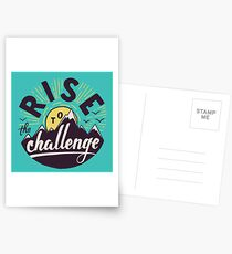 Rise to the challenge Postcards