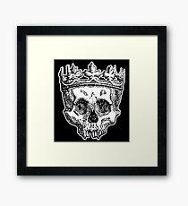 SKULL KING, DEATH, King of the Dead, Skull, Crown, on BLACK Framed Print
