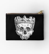 SKULL KING, DEATH, King of the Dead, Skull, Crown, on BLACK Studio Pouch