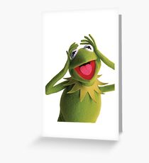 Kermit the frog greeting cards redbubble kermit the frog muppets greeting card m4hsunfo