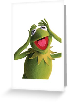 Kermit the frog muppets greeting cards by andy hansen redbubble kermit the frog muppets by andy hansen m4hsunfo