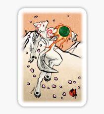 Okami wolf anthro Sticker