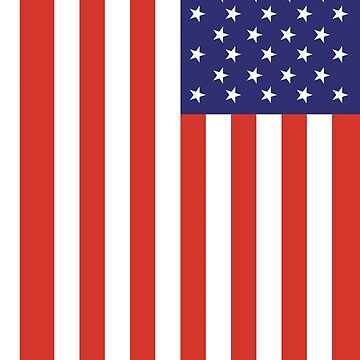 Stars & Stripes, American Flag, FULL COVER, Pure & Simple, America, USA by TOMSREDBUBBLE
