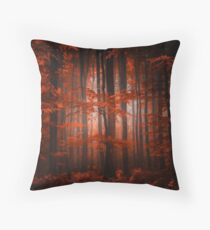 Red Parallel Universe Throw Pillow