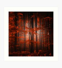Red Parallel Universe Art Print