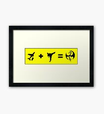 Formula To Become The Iron Fist Framed Print