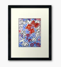 Floral Doves Framed Print