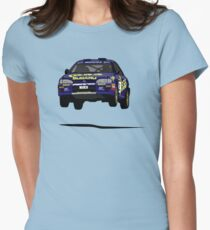 Fortitude's  'Colin McRae 555' Subaru Impreza Tribute Womens Fitted T-Shirt