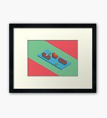 Isometric river Framed Print