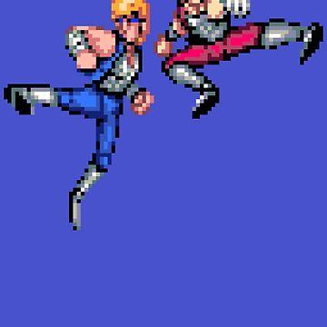 Double Dragon Jump Kicks by ropified