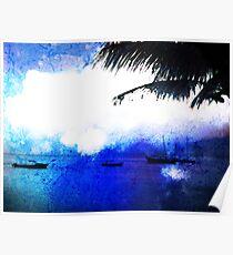 Bonaire Blue Poster