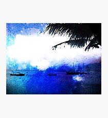 Bonaire Blue Photographic Print