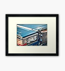 Gleaming 80s Cadillac Framed Print