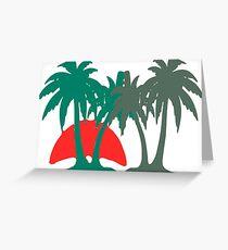 uninhabited island Greeting Card