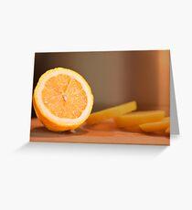 Lemon dressing for healthy eating lovers Greeting Card