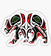 Tribal Bear Sticker