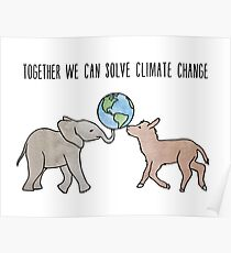Together We Can Solve Climate Change Poster
