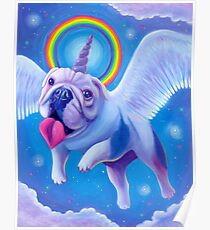 Kittycorn, the Miniature Bulldog Unicorn! Poster