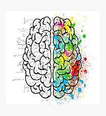 Right Brain Left Brain Photographic Print