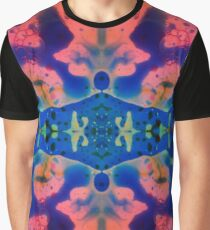 Pink Blue Psychedelic Pattern Graphic T-Shirt