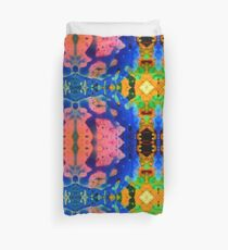Pink Blue Psychedelic Pattern Duvet Cover