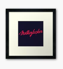 Motherfucker Logo Framed Print