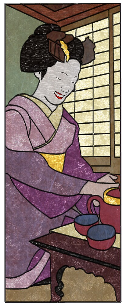 Tea Ceremony Panel 2 by Mike Connor