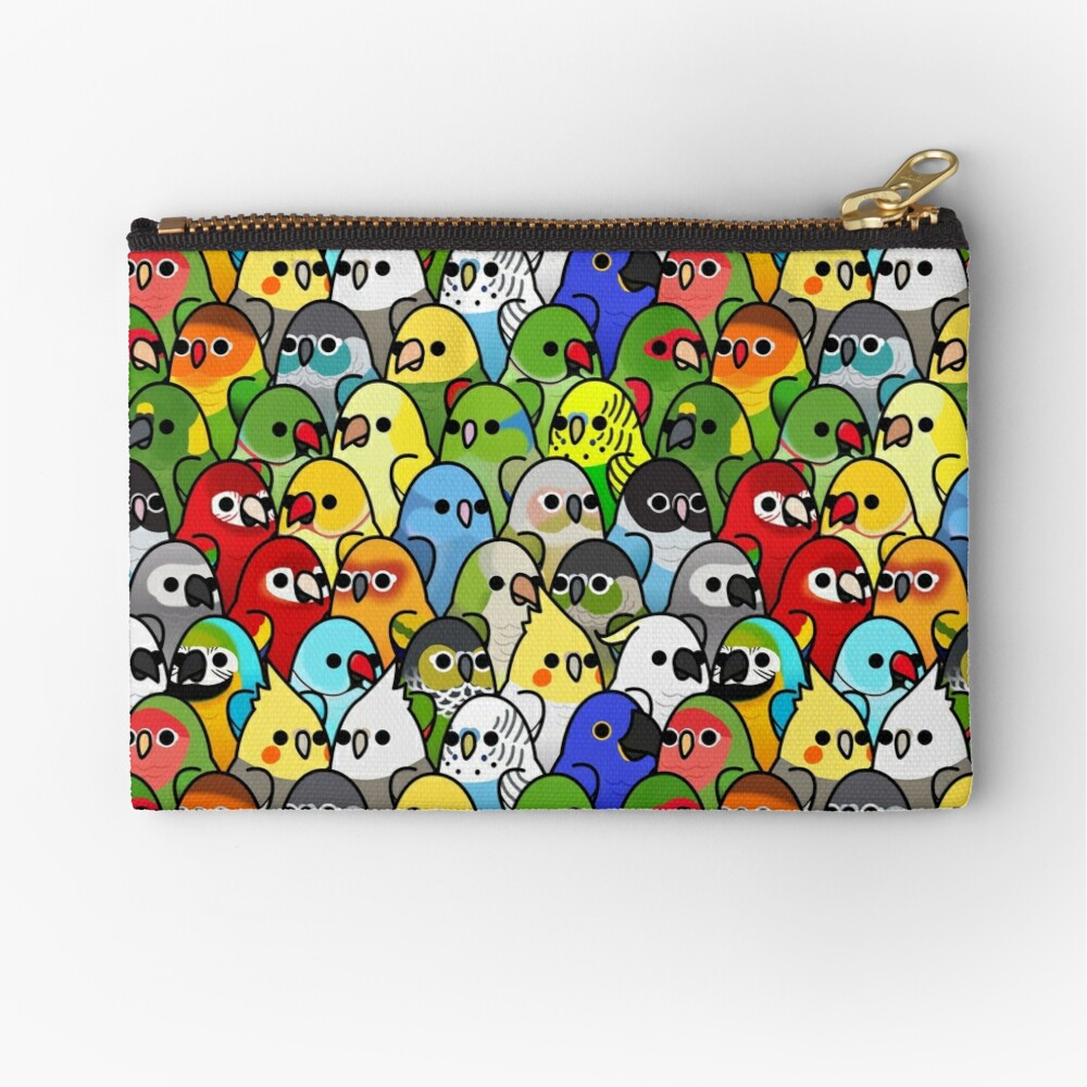 Too Many Birds! Bird Squad Classic Zipper Pouch