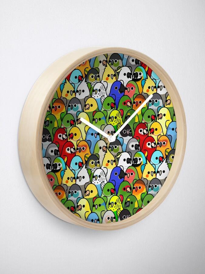Alternate view of Too Many Birds! Bird Squad Classic Clock