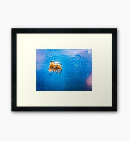 The sub in the deep blue sea Framed Print